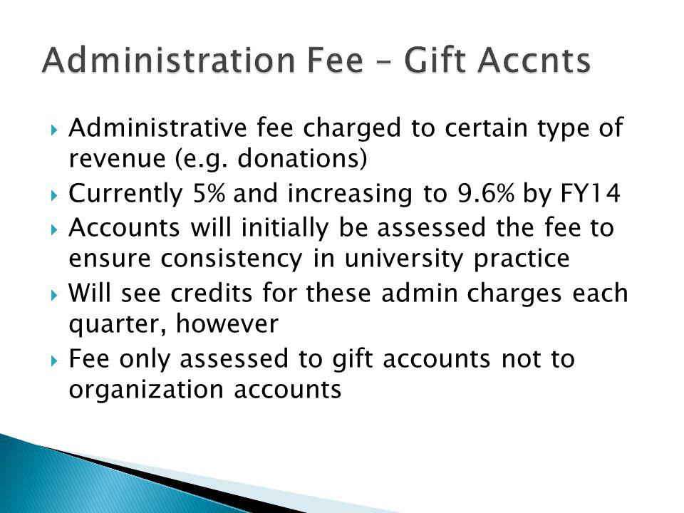 Administration Fee – Gift Accnts