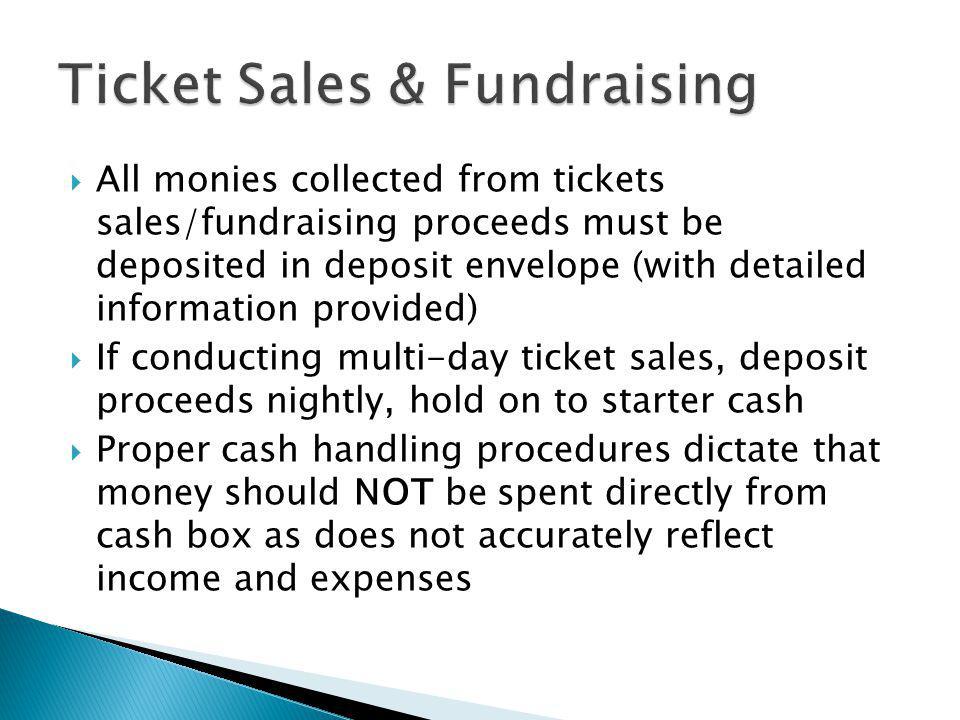 Ticket Sales & Fundraising