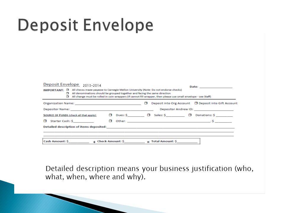 Deposit Envelope 2013-2014.