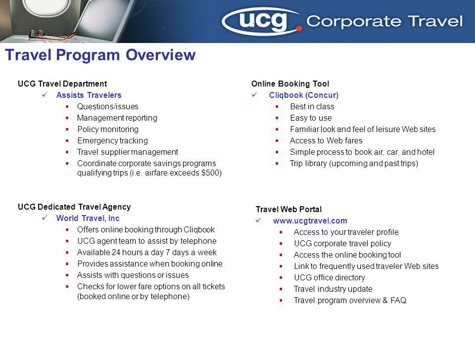 Travel Program Overview