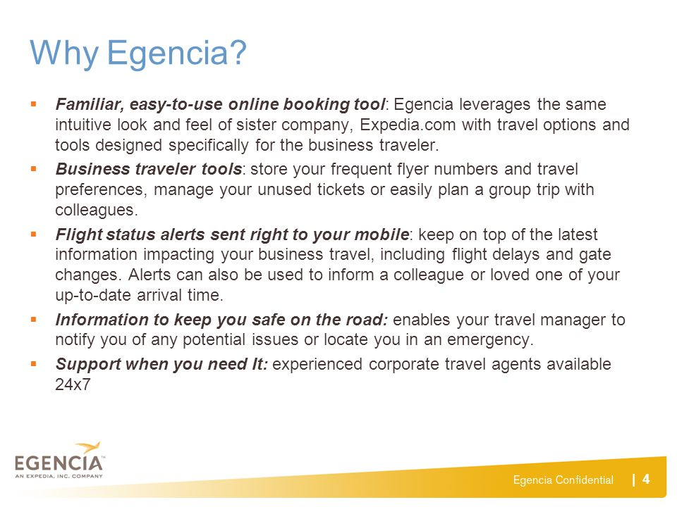 Why Egencia