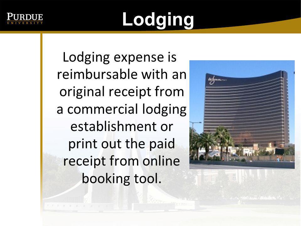 Lodging: