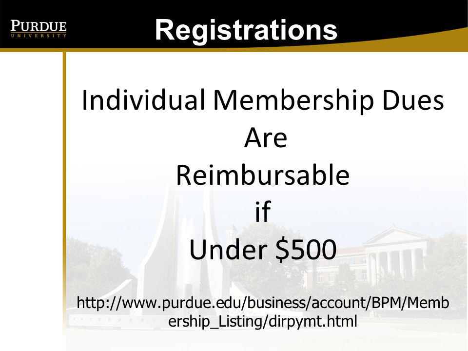 Registrations: