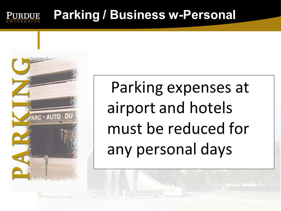Parking / Business w-Personal