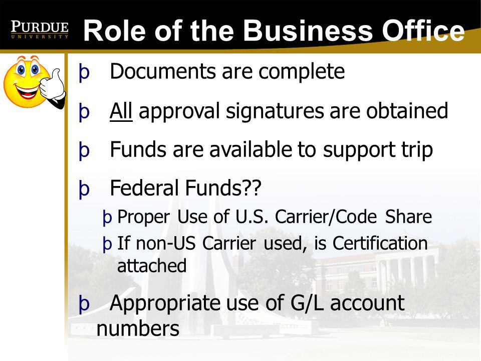 Role of the Business Office