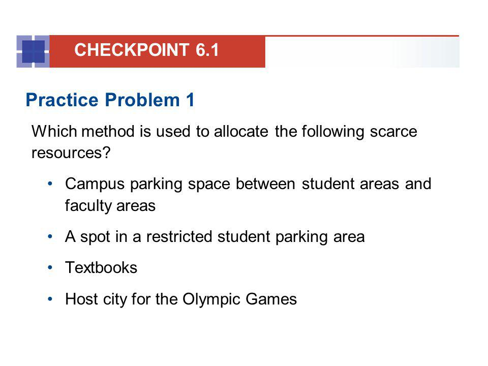 Practice Problem 1 CHECKPOINT 6.1