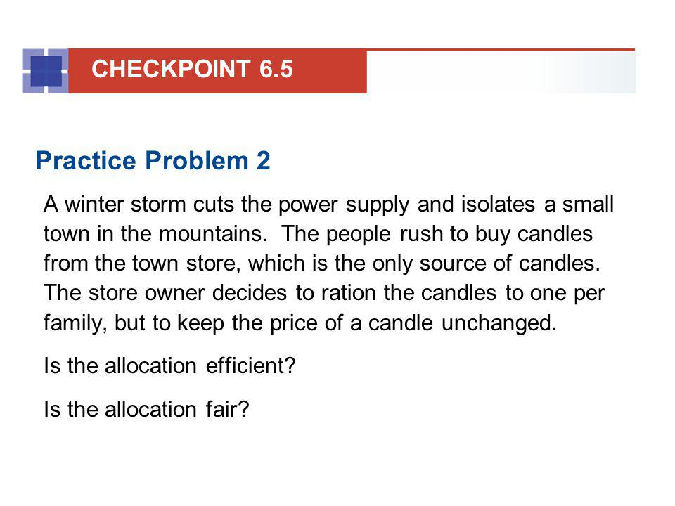 Practice Problem 2 CHECKPOINT 6.5