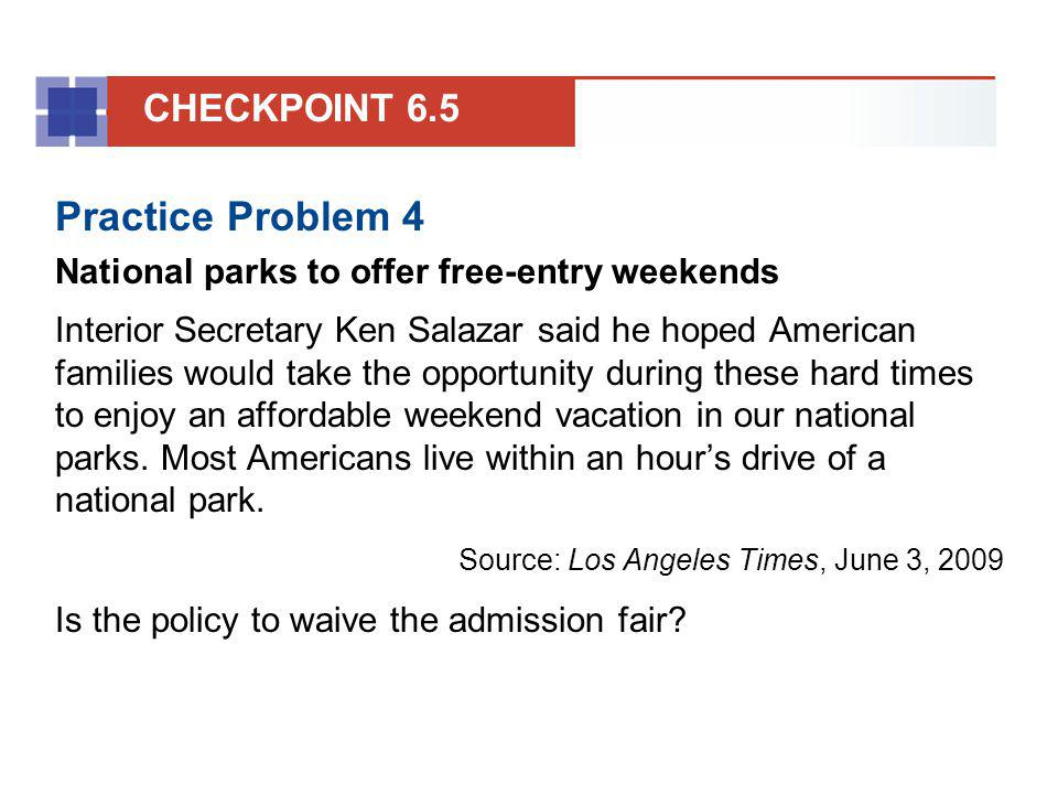 Practice Problem 4 CHECKPOINT 6.5