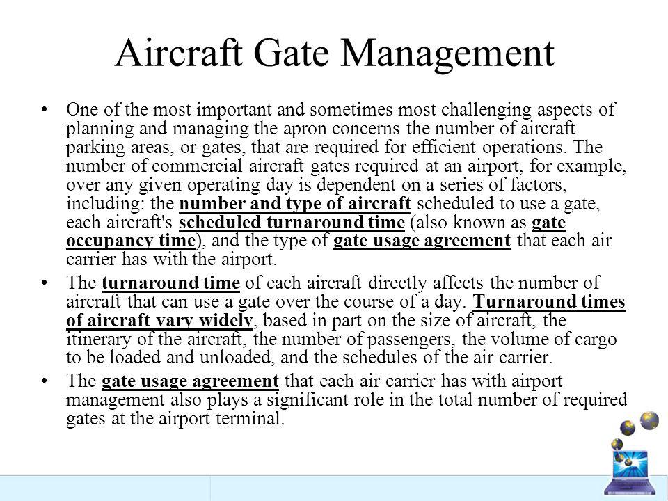Aircraft Gate Management