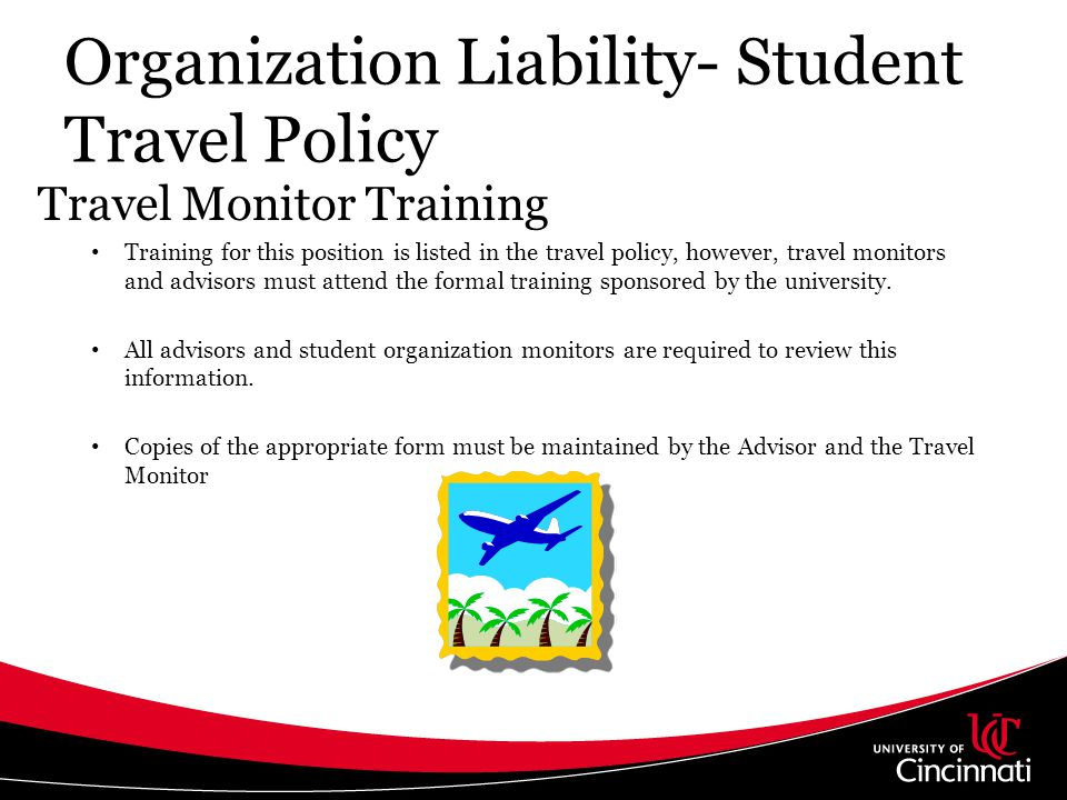 Organization Liability- Student Travel Policy