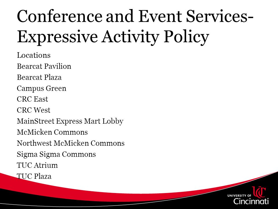 Conference and Event Services- Expressive Activity Policy