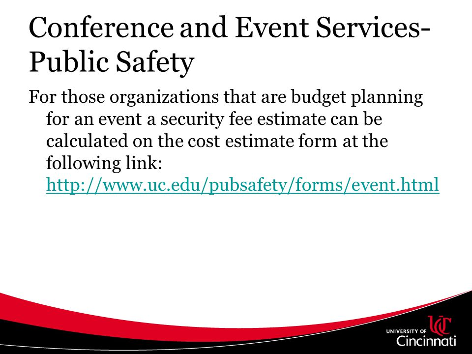 Conference and Event Services- Public Safety