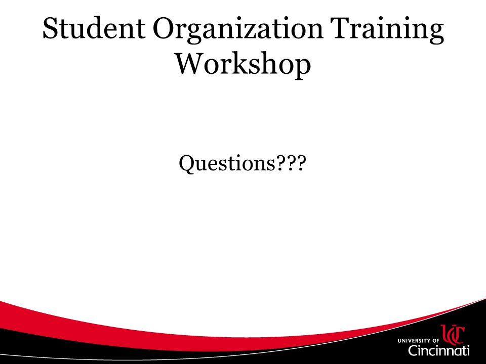 Student Organization Training Workshop
