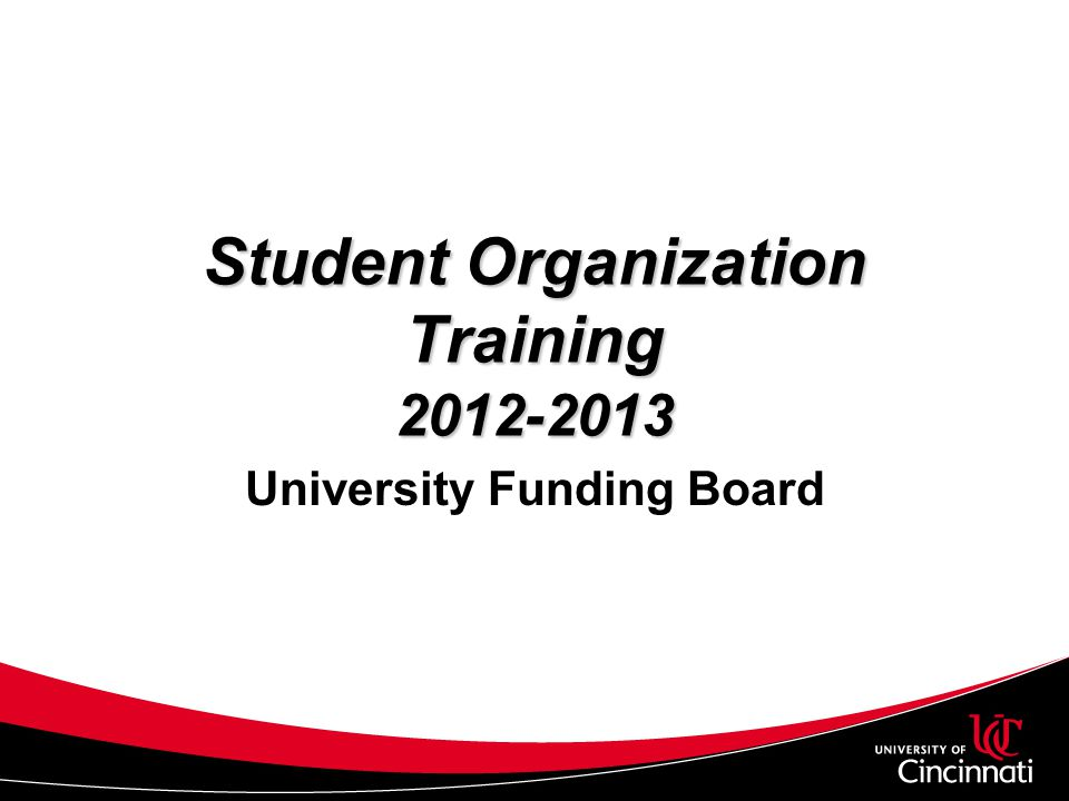 Student Organization Training 2012-2013