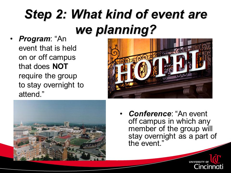 Step 2: What kind of event are we planning