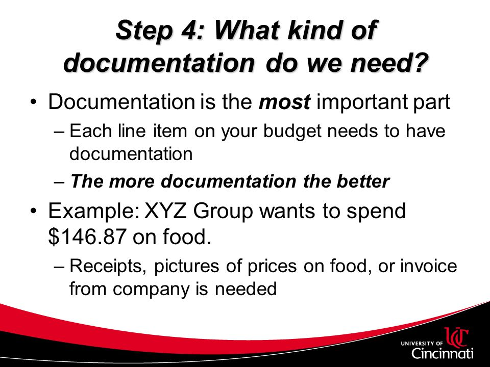 Step 4: What kind of documentation do we need