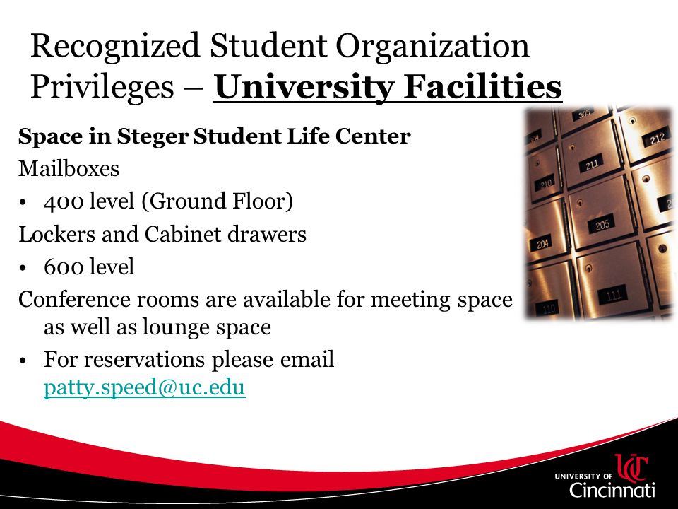 Recognized Student Organization Privileges – University Facilities