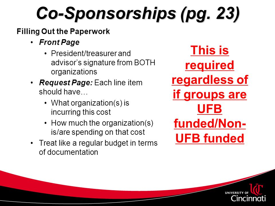 This is required regardless of if groups are UFB funded/Non-UFB funded