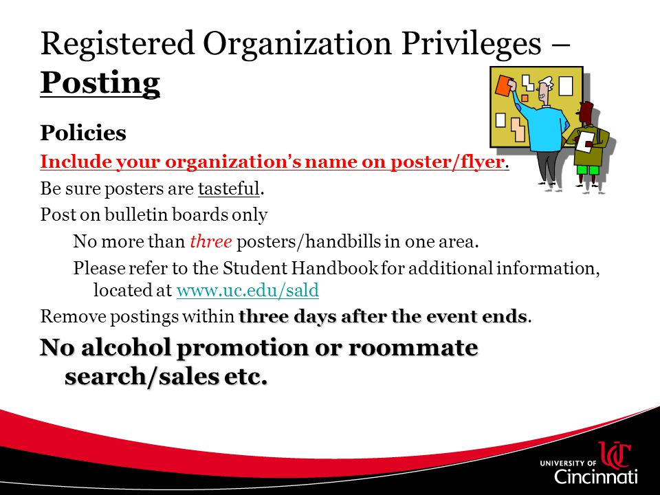 Registered Organization Privileges – Posting