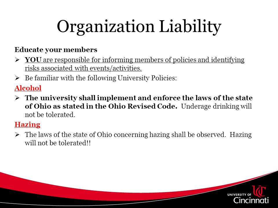 Organization Liability