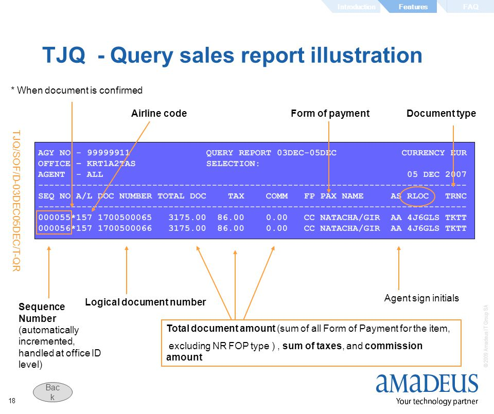 TJQ - Query sales report illustration