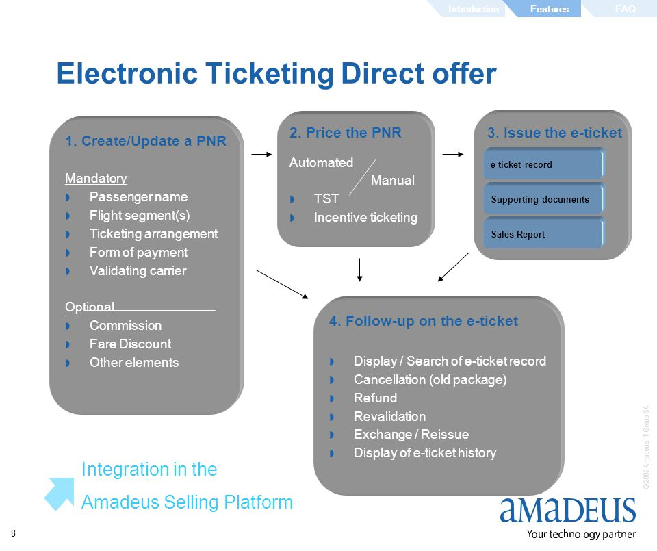 Electronic Ticketing Direct offer