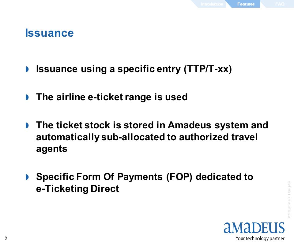 Issuance Issuance using a specific entry (TTP/T-xx)