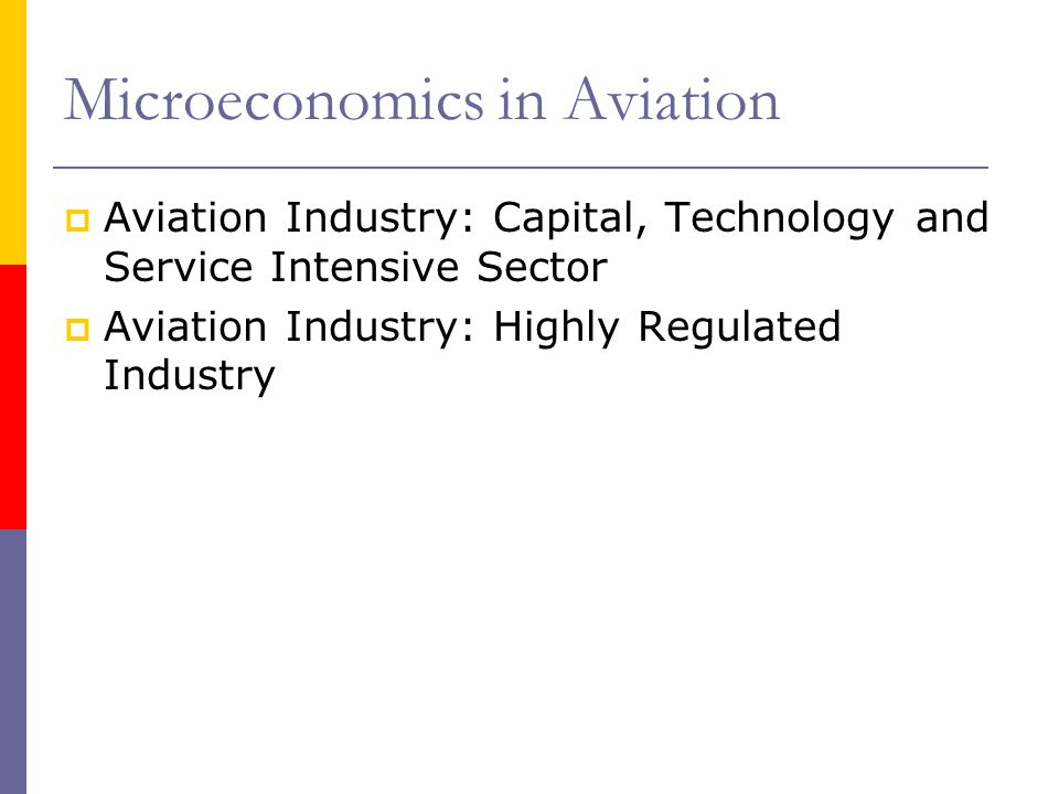 Microeconomics in Aviation
