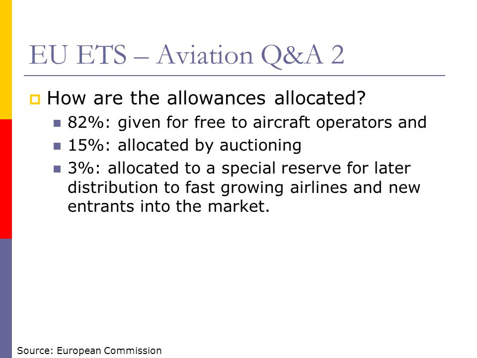 EU ETS – Aviation Q&A 2 How are the allowances allocated