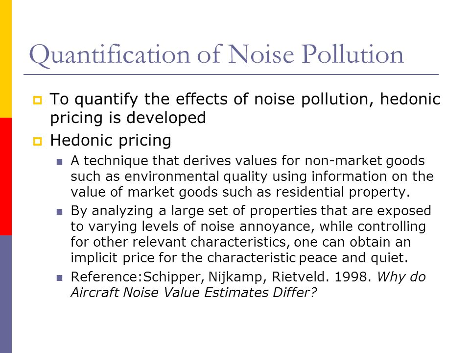 Quantification of Noise Pollution