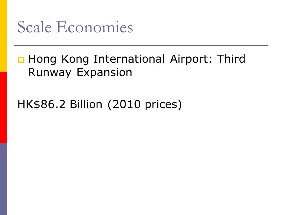 Scale Economies Hong Kong International Airport: Third Runway Expansion.