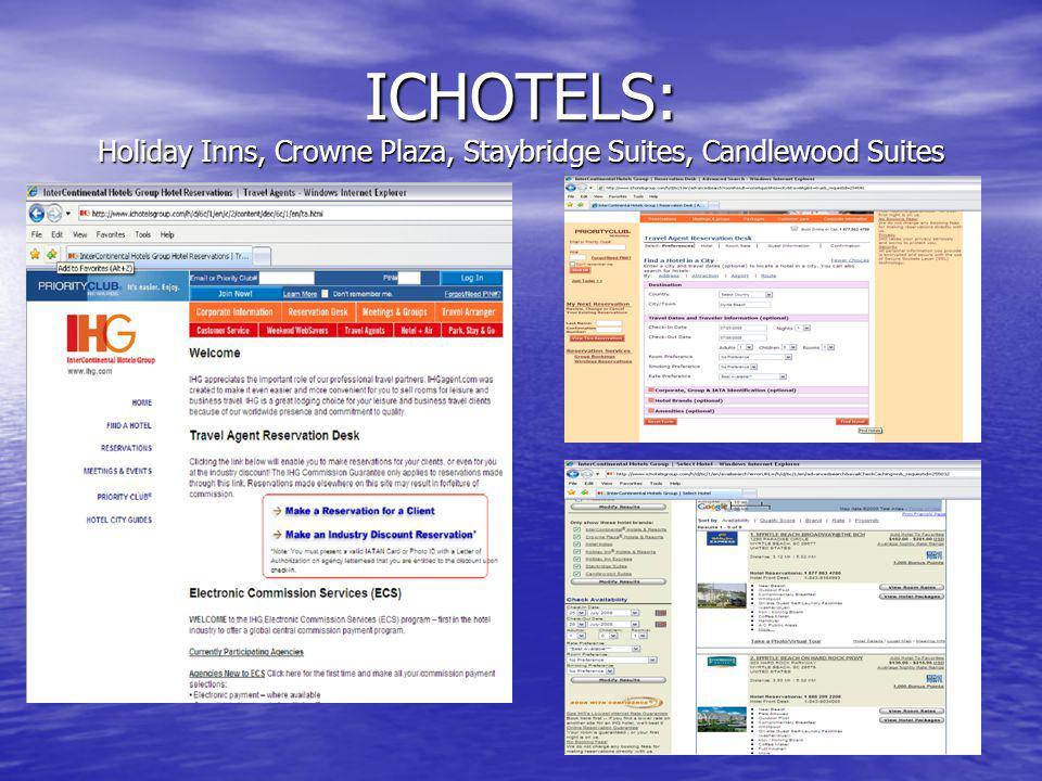 ICHOTELS: Holiday Inns, Crowne Plaza, Staybridge Suites, Candlewood Suites