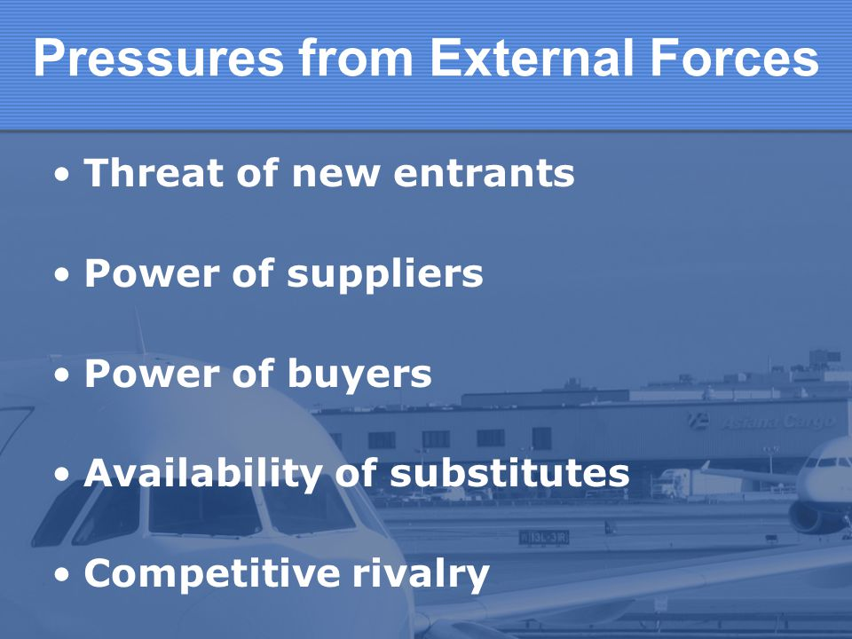 Pressures from External Forces