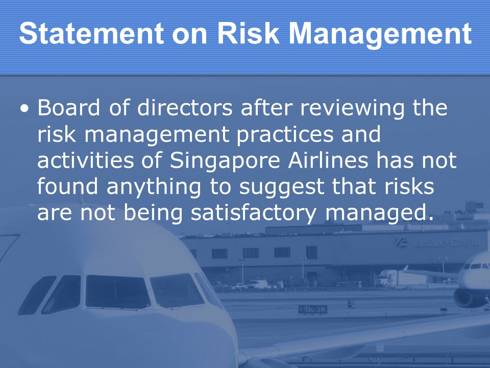 Statement on Risk Management