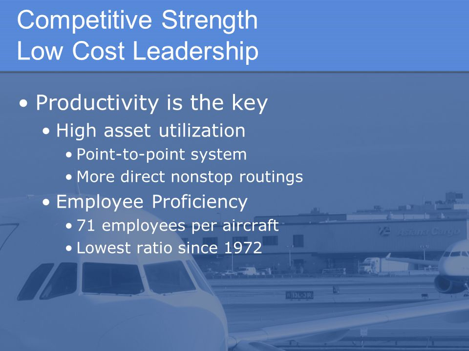 Competitive Strength Low Cost Leadership