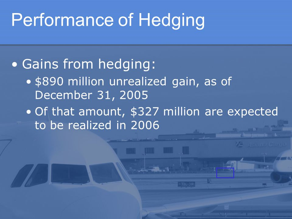 Performance of Hedging