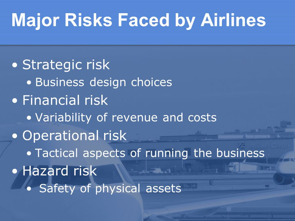 Major Risks Faced by Airlines