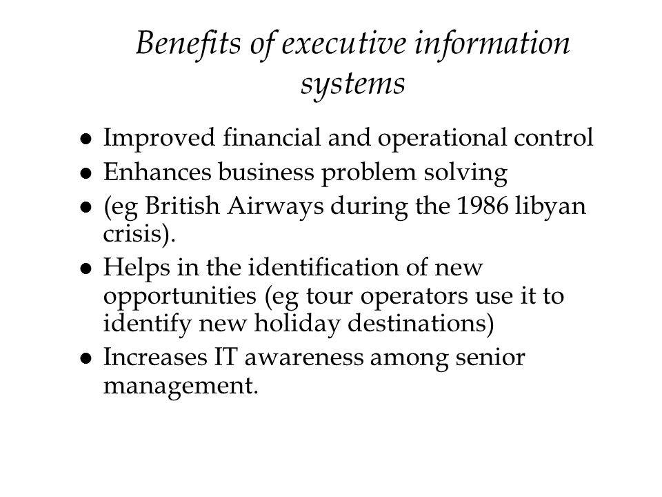 benefits of using an information system Retrieved from [management information systems careers] | masters of management information systems careers.