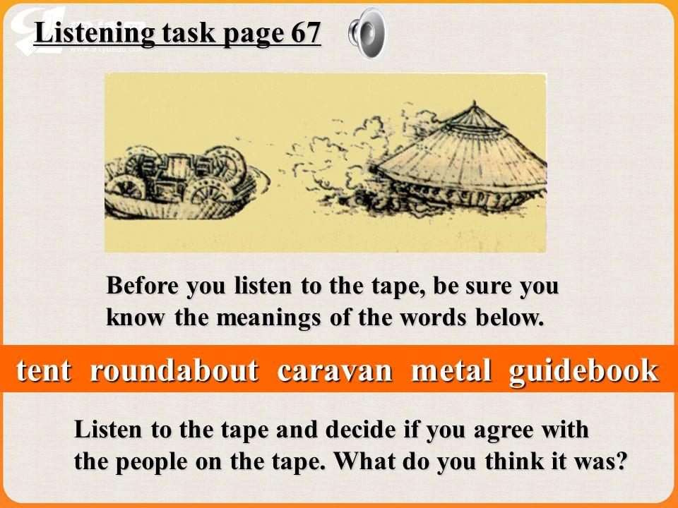 tent roundabout caravan metal guidebook
