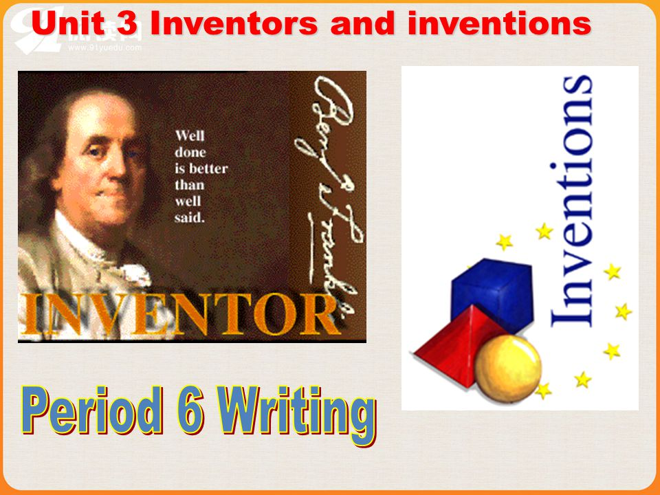 Unit 3 Inventors and inventions