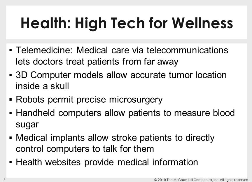 Health: High Tech for Wellness