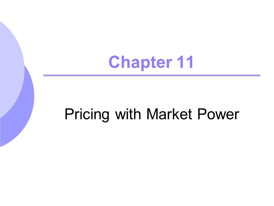 Pricing with Market Power