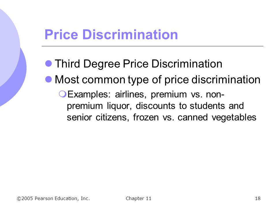 Price Discrimination Third Degree Price Discrimination