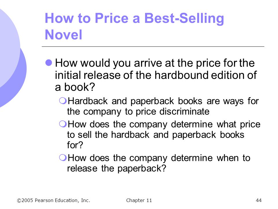 How to Price a Best-Selling Novel