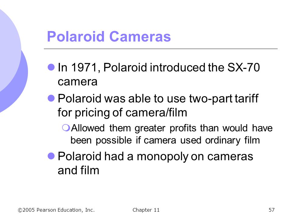 Polaroid Cameras In 1971, Polaroid introduced the SX-70 camera