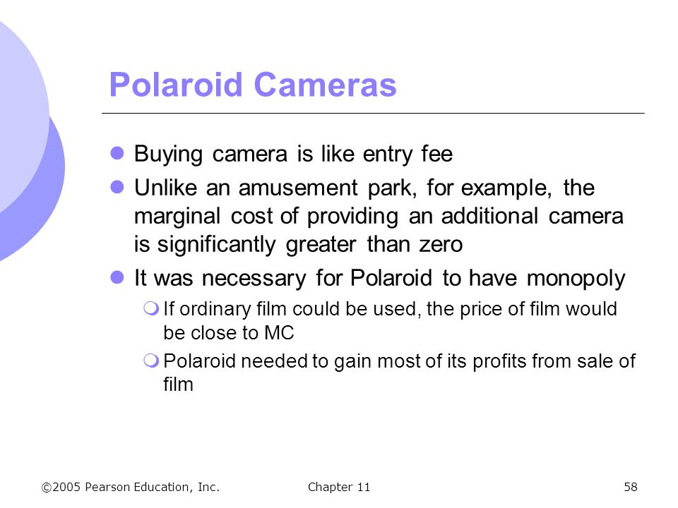 Polaroid Cameras Buying camera is like entry fee