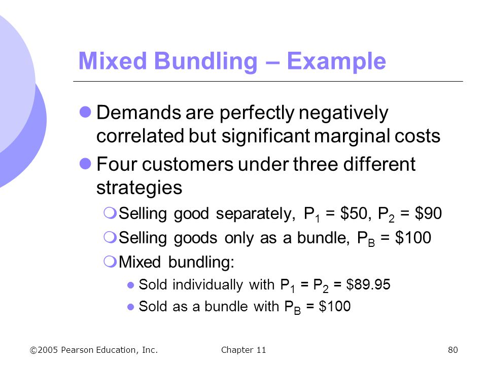 Mixed Bundling – Example