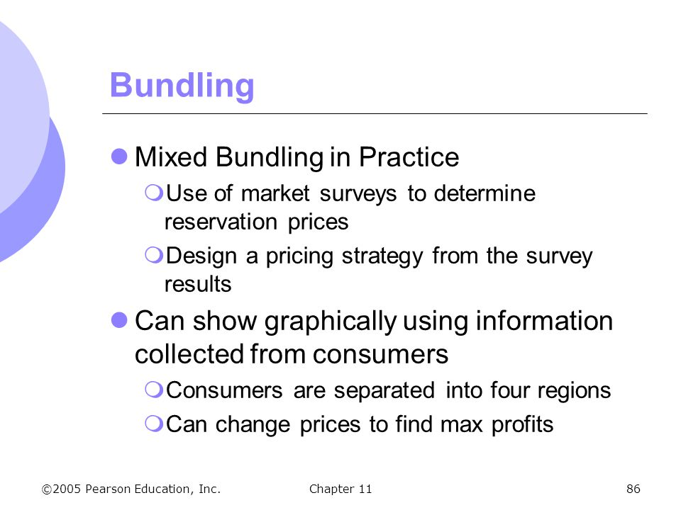 Bundling Mixed Bundling in Practice