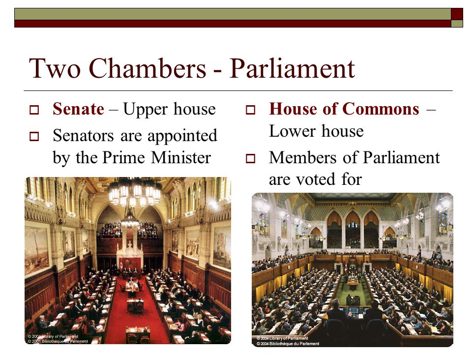 Two Chambers - Parliament