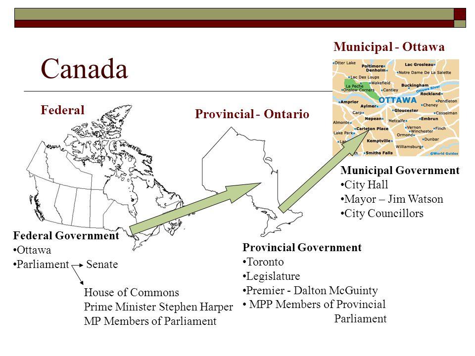 Canada Municipal - Ottawa Federal Provincial - Ontario